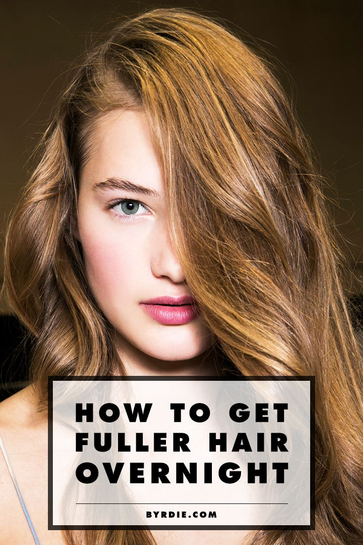 How to transform your hair from lifeless to full of body, overnight. (via @byrdiebeauty)