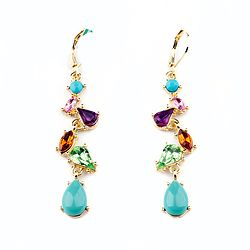 Milti Color Crystal Earring Personality