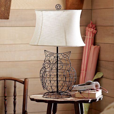 Owl Lamp Base + Shade | PBteen: Pottery Barns Teen, Pbteen, Hoot Hoot, Barns Owl, Owl Lamps, Lamps Based, Pb Teen, Wire Owl, Owls