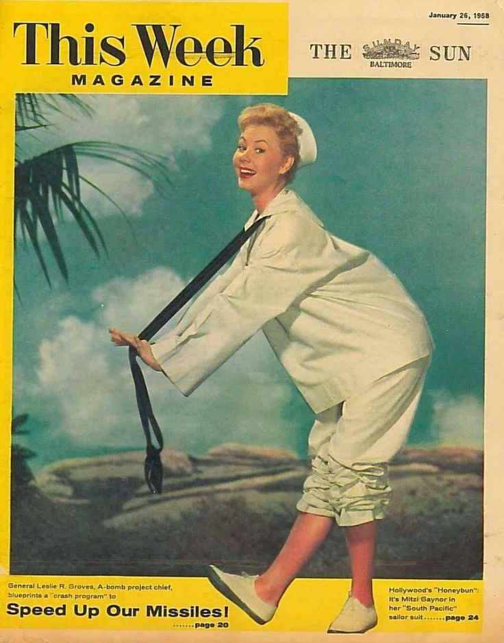 This Week Magazine January 26 1958 Mitzi Gaynor by Frank Powolmy South Pacific