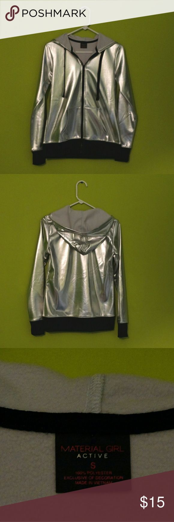 Metallic hoodie Only worn once Material Girl Tops Sweatshirts & Hoodies