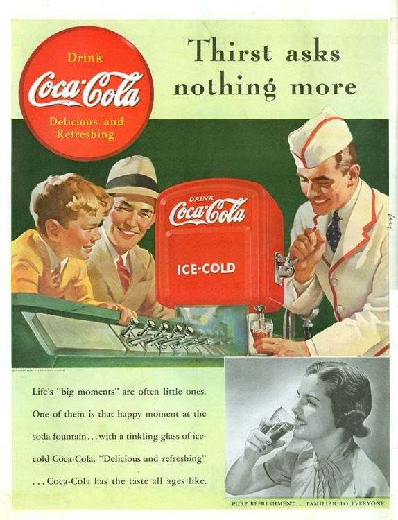 "old commercials | Old Coca cola ads - Thirst asks nothing more"" margin="