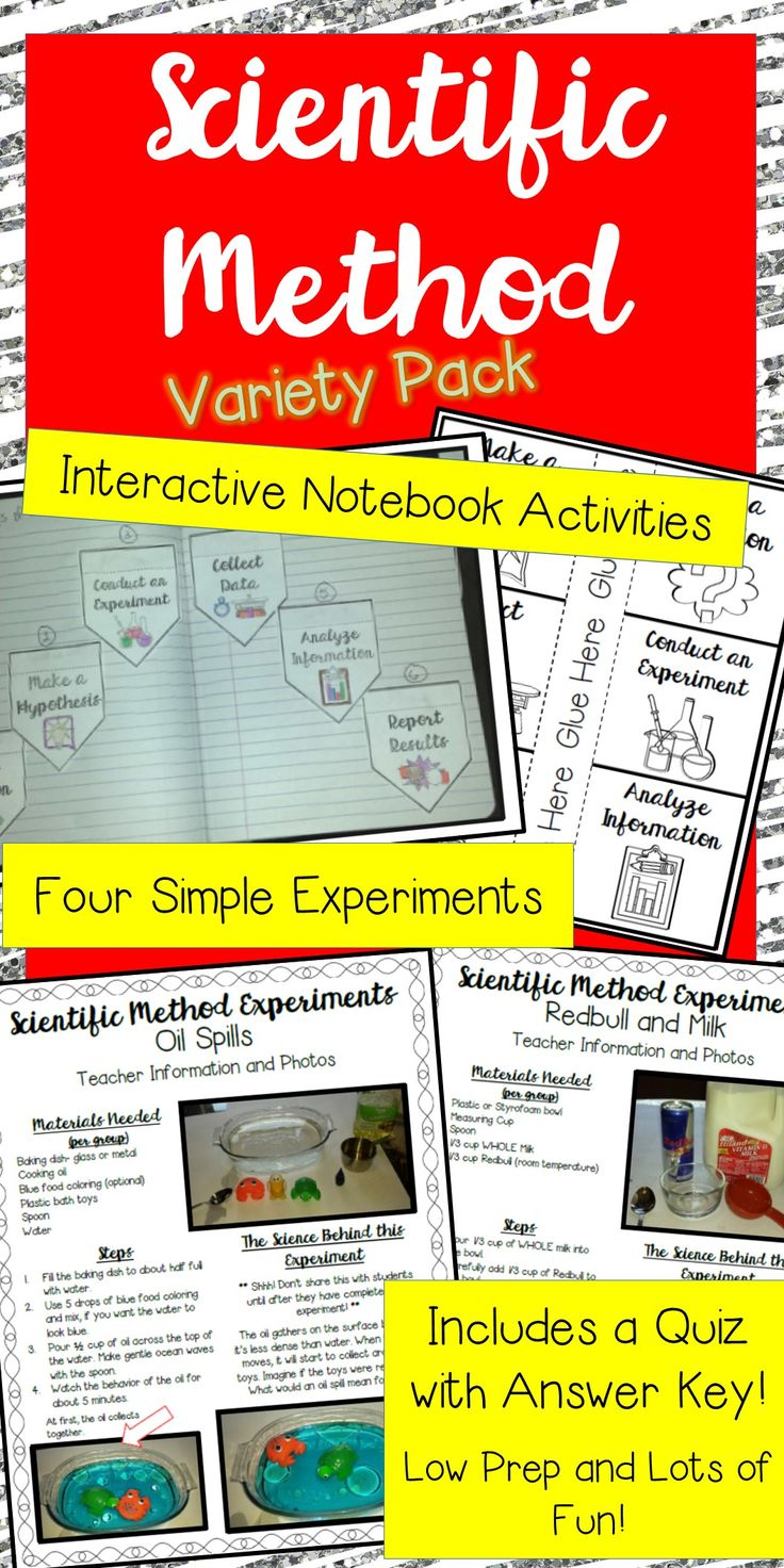Scientific Method has never been more fun to teach! Your students will love these interactive notebook activities and simple experiments!