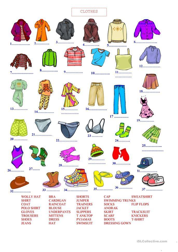 CLOTHES Çalışma tabloları, Öğretim, Eğitim