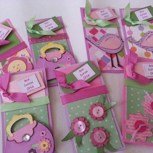 Tarjetas de presentación para niñas recuerda visitarme en www.recortesyrecuerdos.com