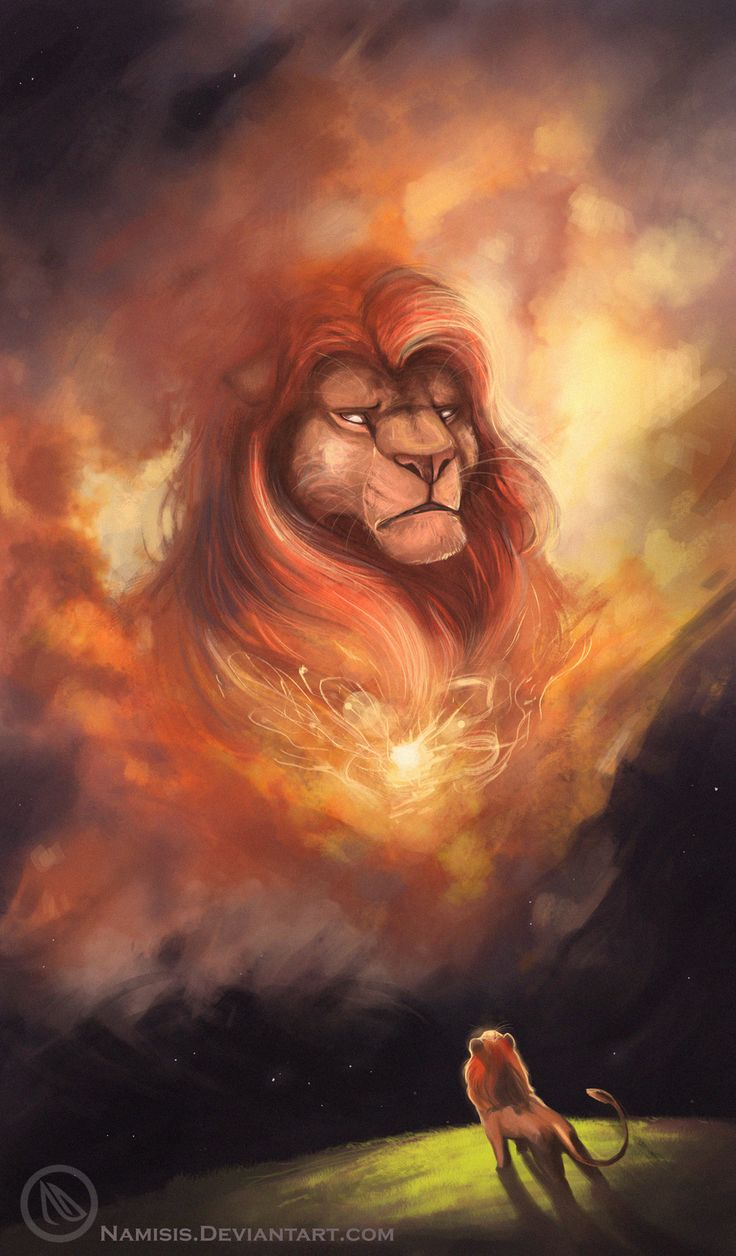 Mufasa and Simba, The Lion King by Namisis.deviantart.com on @DeviantArt