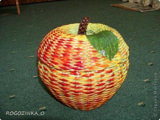 Здравствуйте, мастера и рукодельницы СМ. Скоро яблочный спас. Предлагаю вашему вниманию обещанный МК по плетению яблока.. Фото 1