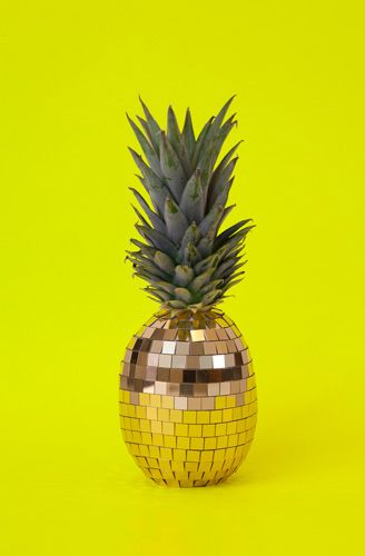 Disco pineapple sculpture ('Strange Fruits': Food Transformed Into Gems, Brains, and Rubik's Cubes) http://www.flavorwire.com/364046/strange-fruits-food-transformed-into-gems-brains-and-rubiks-cubes #Art