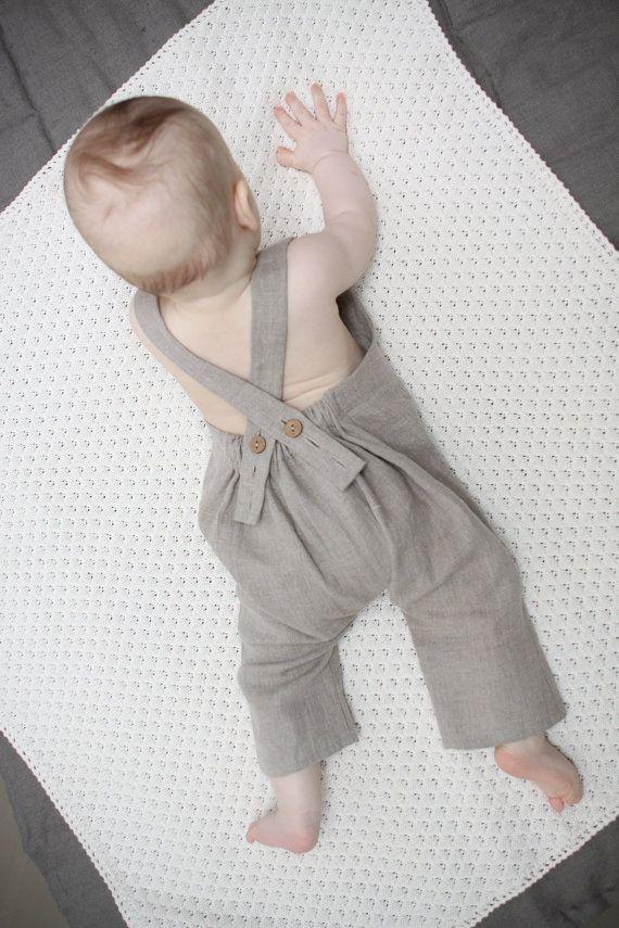 Bambini bambino lino Harem Pants con pagliaccetto di di Marumakids