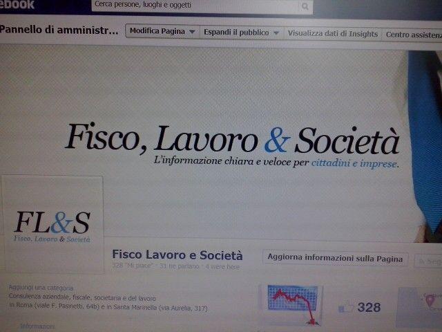 Fisco Lavoro e Società pagina facebook