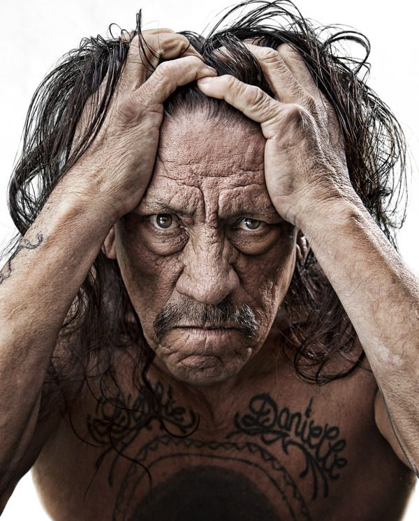 Danny Trejo  CELEBRITIES #2 by Mike Campau, via Behance