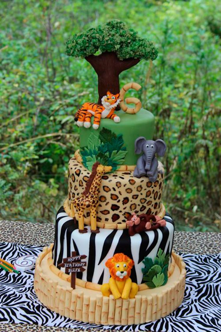 Safari Decorating Ideas Cake