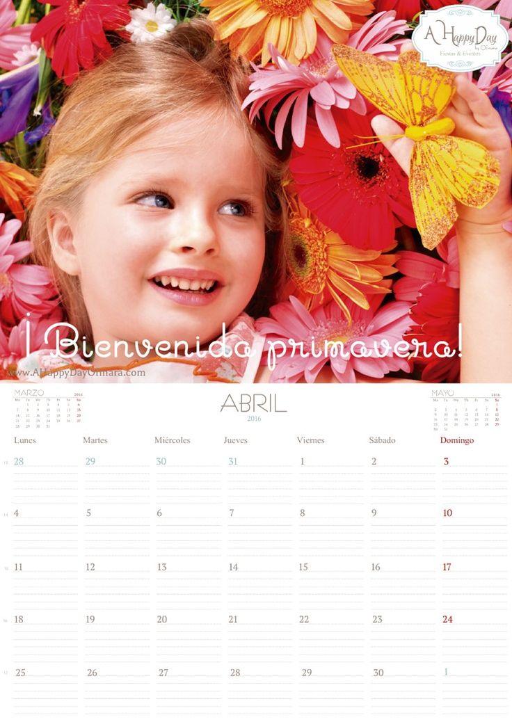"""En A Happy Day by Ofmara la planificación es fundamental en nuestro día a día y sabemos que para ti también lo es! así que os dejamos nuestro calendario mensual del mes de """"Abril 2016"""" descargable totalmente """"Gratis"""" y listo para imprimir. Para descargarlo, sigue las siguientes instrucciones: 1. Haz clic aquí. 2. Se abrirá…"""