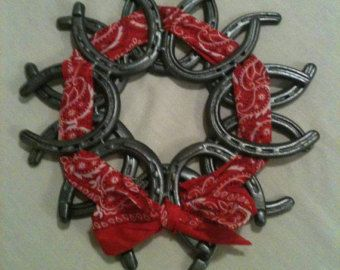Horseshoe Wreath by ekdesignsent on Etsy