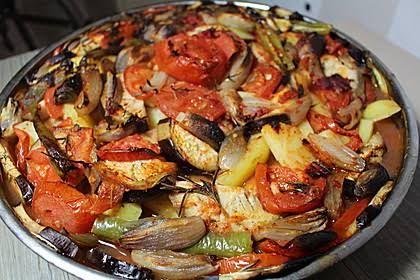 Hähnchen-Kebab im Ofen