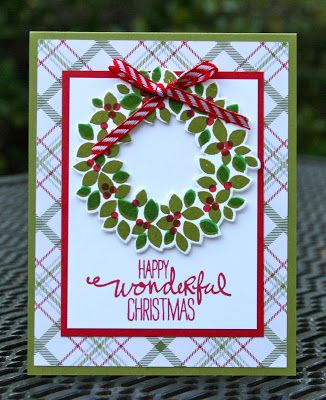 Krystal's Cards: Stampin' Up! Wondrous Wreath Reject #stampinup #krystals_cards #wondrouswreath