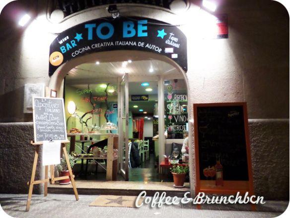 Aperitivo italiano de bufe libre en Eixample–To Be Restaurant-Exterior