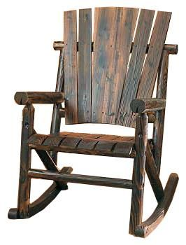 Rustic Log Wooden Rocking Chair on BourbonandBoots.com #rockingchair #southern