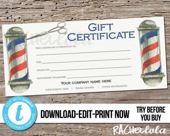 Https Www Elegantflyer Com Free Gift Certificate Template Barbershop Free Gift Certifica Free Gift Certificate Template Gift Certificate Template Barber Shop