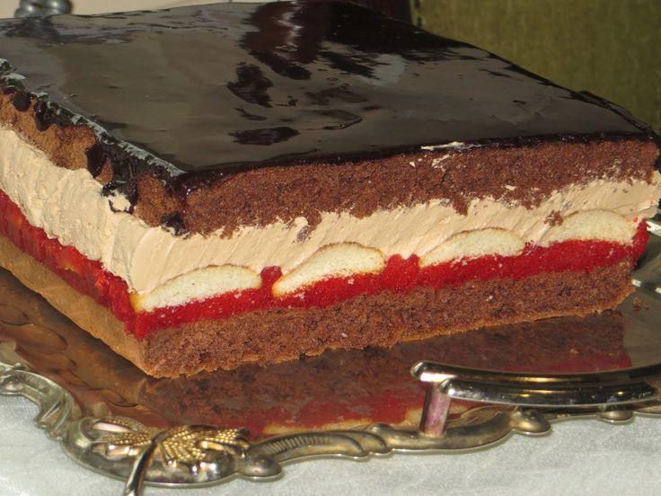 Ciasto Truskawka w czekoladzie