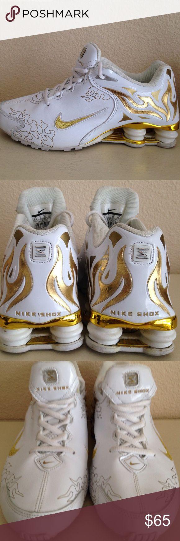 757041cff909ff ... white nike shox gold flames nike shox nz flames
