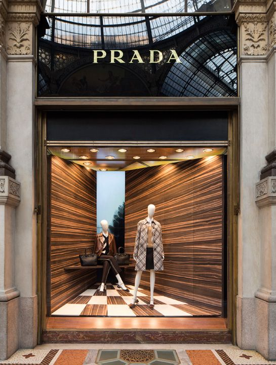 Shop windows by Martino Gamper for Prada - Attitude Interior Design Magazine