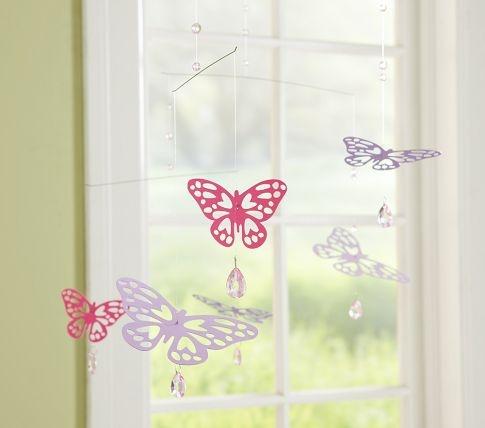 Butterfly Jewel Mobile Butterfly Nursery Girl Nursery