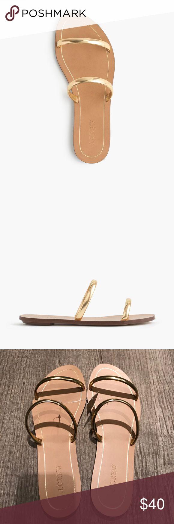 J. Crew Isla metallic slides/sandals size 9. NWT J. Crew Isla metallic slides/sandals size 9. NWT J. Crew Shoes Sandals