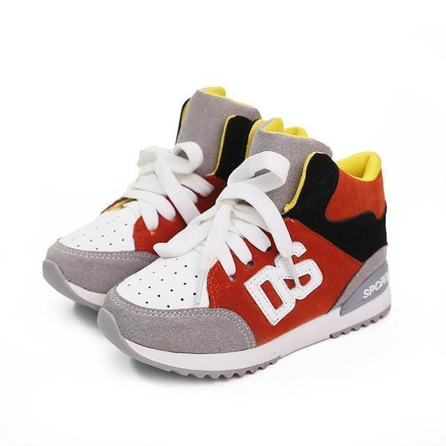 Children Shoes, UNISEX Sneakers For Boys and Girls, Red, Orange, Green