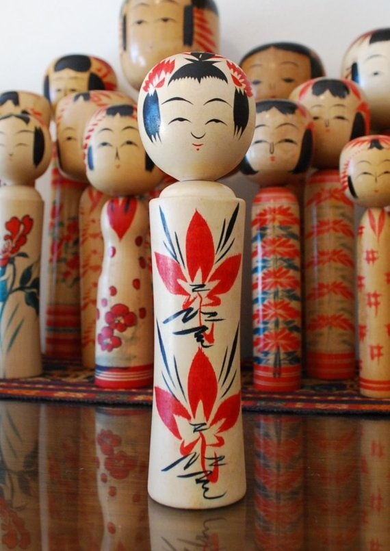 Kokeshi dolls. There were a few of these in my house growing up and I loved them. Wish I had one for my house now.