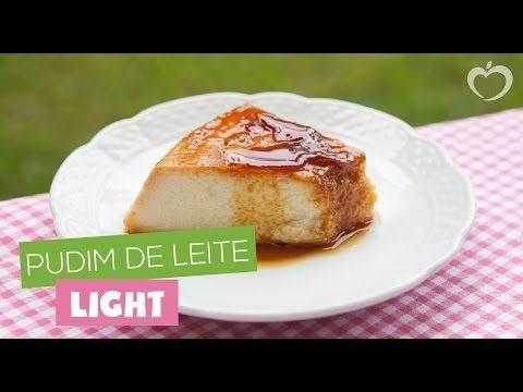 Pudim de Leite Light do Blog da Mimis - Receita deliciosa e com poucas calorias para manter a saude e dieta.