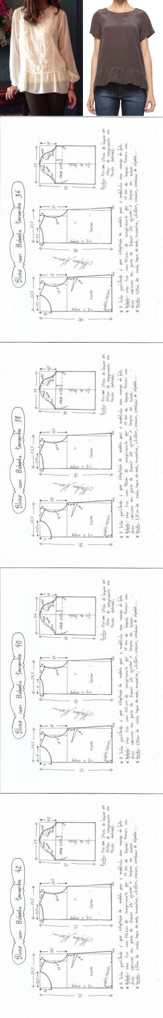 Схемы выкроек блузок фото