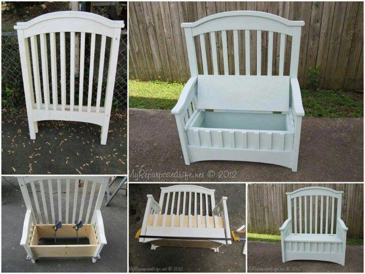 Upcycled crib @Ailene Bearden Bearden Bearden Aguilera