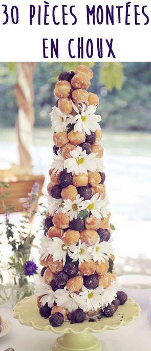 Avis aux gourmands, voici 30 pièces montées en choux pour votre mariage. De quoi vous donner quelques idées pour votre dessert de mariage.
