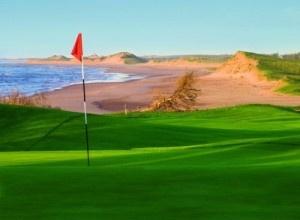 Golfing.  (Crowbush) Prince Edward Island, Canada