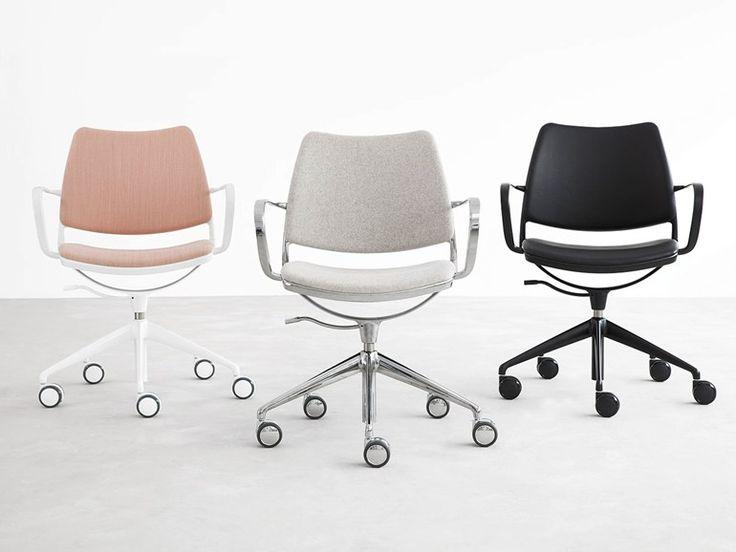 5-Speichen- Bürostuhl aus Stoff mit Rollen GAS | Bürostuhl aus Stoff - STUA