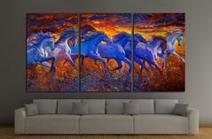 Oil painting. Running horses №2800