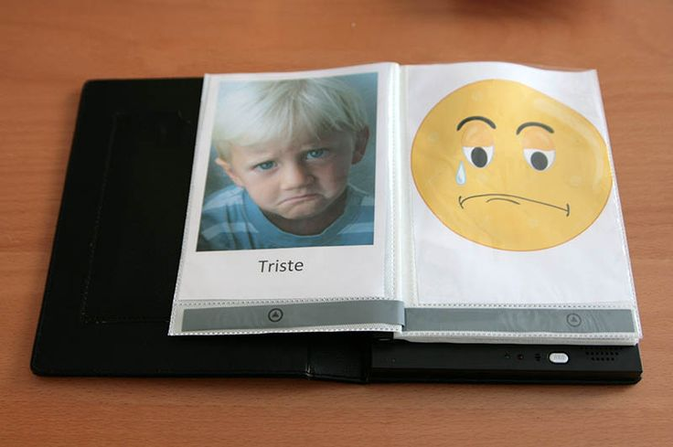 Faites un album sonore des émotions en enregistrant sur chaque page de l'album des bruitages correspondant à l'émotion présentée !