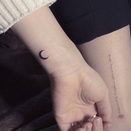 Moon tattoo on the wrist. Tattoo artist: Sol Tattoo