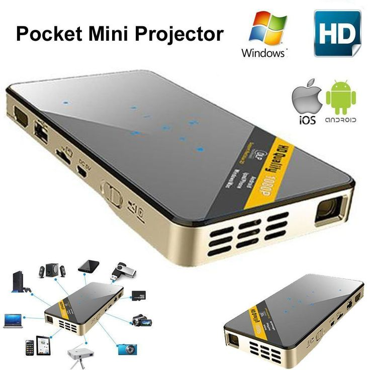 Mini Proyector DLP LED Wifi Bolsillo Miracast para IOS Android Home Cinema HD 1080P | Tecnología, TV, audio y video, Proyectores de Home theater | eBay!