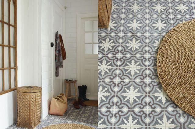 Home garden carreaux de ciment escalier d coration campagne ou maison de vacances - Escalier carreaux de ciment ...