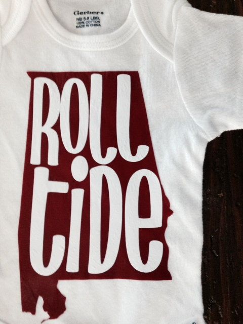 Just the Iron on | Alabama | Roll Tide | DIY Onesie, Toddler Shirt, Adult