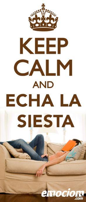 KEEP CALM AND ECHA LA SIESTA, ALMERIA