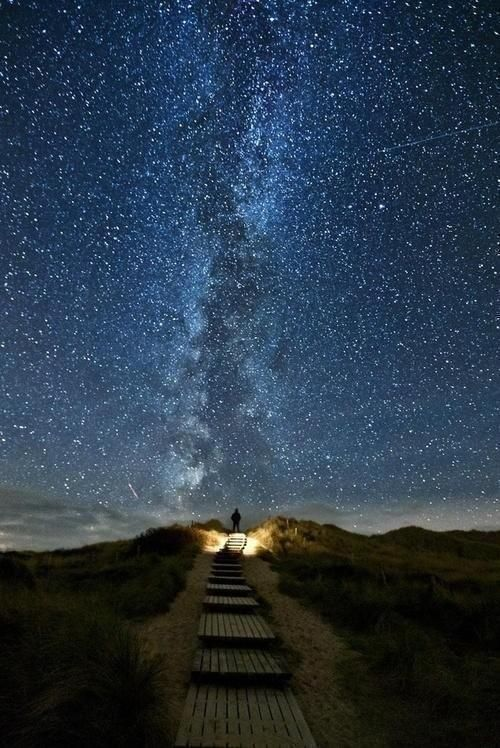 Heavens Trail. A place in Ireland where every two years on June 10-18 the stars line up with this path