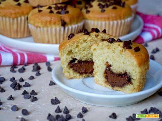 Muffin con Cuore di Nutella  #ricette #food #recipes