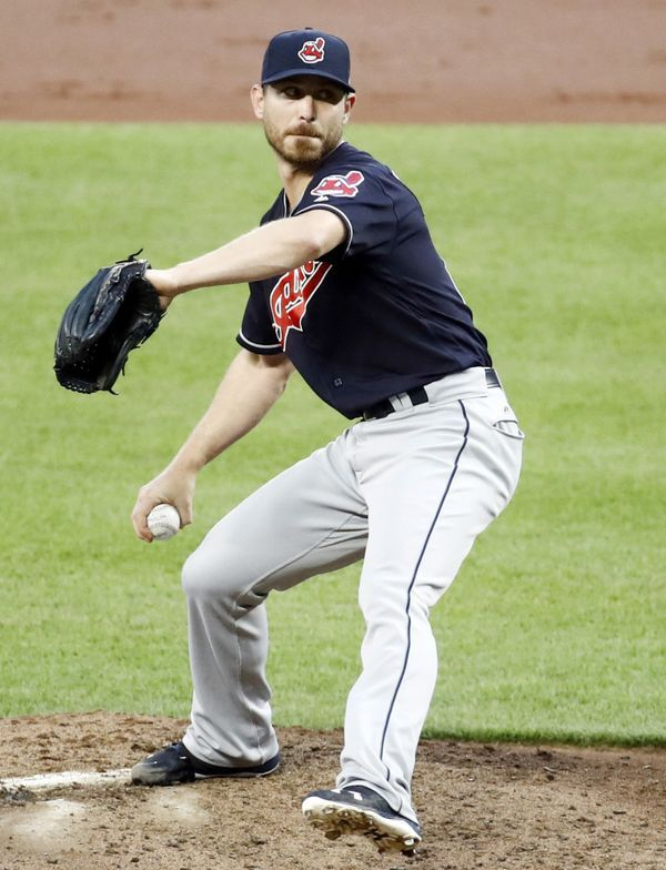 Cleveland Indians starting pitcher Josh Tomlin throws to the Baltimore Orioles  in Baltimore, Tuesday, June 20, 2017. (AP Photo/Patrick Semansky)