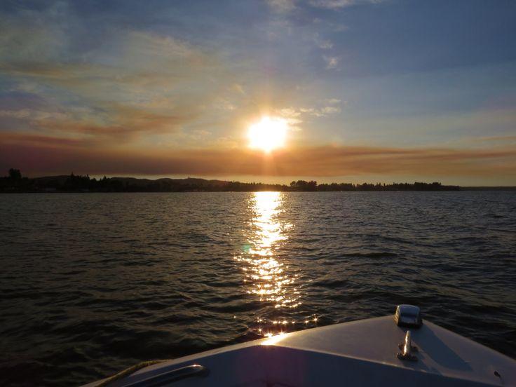 Atardecer en Lago Rapel, VI Región, Chile.