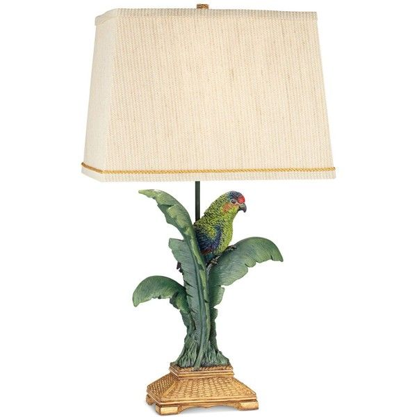 pacific coast tropical parrot table lamp 229 liked on polyvore featuring home - Bedroom Table Lamps