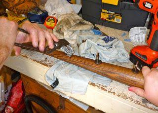 Do-It-Myself Crafts: Baseball Bat Coat Rack