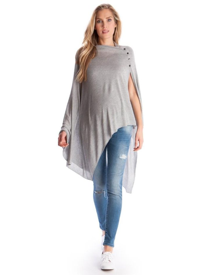 Grey Breastfeeding Shawl | Seraphine, Gray is the new black, stylish maternity clothes, fashionable cover for nursing